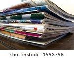 magazines on table | Shutterstock . vector #1993798