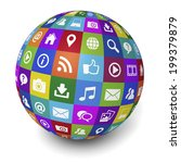 web and internet social media... | Shutterstock . vector #199379879