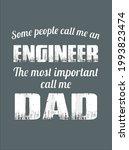 call me dad engineer genius...   Shutterstock .eps vector #1993823474