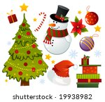 christmas set of different stuff | Shutterstock .eps vector #19938982