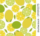 seamless pattern with  lemon... | Shutterstock .eps vector #199392275