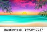 seascape sunset. horizon. sun... | Shutterstock .eps vector #1993947257