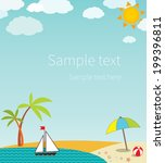 seascape with space for text | Shutterstock .eps vector #199396811