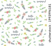 summer seamless pattern with...   Shutterstock .eps vector #1993996181