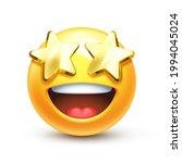 starry eyed emoji. golden stars ... | Shutterstock .eps vector #1994045024