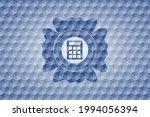 calculator icon inside blue... | Shutterstock .eps vector #1994056394