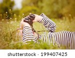 young child using a pair of...   Shutterstock . vector #199407425