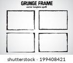 grunge frame set. vector... | Shutterstock .eps vector #199408421