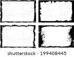 grunge frame set. vector... | Shutterstock .eps vector #199408445