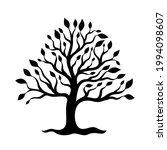 beautiful black tree on white... | Shutterstock .eps vector #1994098607