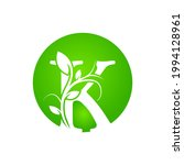 letter k health spa logo. green ... | Shutterstock .eps vector #1994128961