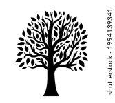 beautiful black tree on white... | Shutterstock .eps vector #1994139341