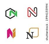 letter n logo set vector design ...   Shutterstock .eps vector #1994155994