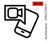 illustration of video line icon | Shutterstock .eps vector #1994170817