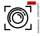 illustration of lens line icon | Shutterstock .eps vector #1994170877