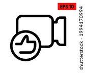 illustration of video line icon | Shutterstock .eps vector #1994170994