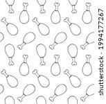 vector seamless pattern of hand ... | Shutterstock .eps vector #1994177267