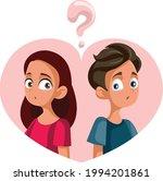 teenagers being in love having... | Shutterstock .eps vector #1994201861
