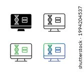 genetic research and negative... | Shutterstock .eps vector #1994204537