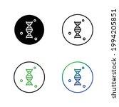 dna icon set  eps 10 | Shutterstock .eps vector #1994205851