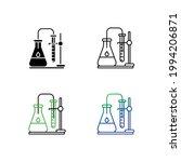 flask icon set  beaker icon | Shutterstock .eps vector #1994206871