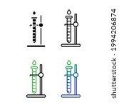 flask icon set  beaker icon | Shutterstock .eps vector #1994206874