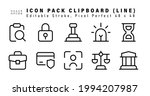 icon set of clipboard line... | Shutterstock .eps vector #1994207987