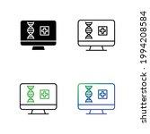 dna diagnosis in computer icon... | Shutterstock .eps vector #1994208584