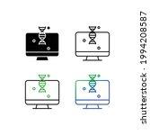 dna diagnosis in computer icon... | Shutterstock .eps vector #1994208587
