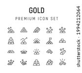 premium pack of gold line icons....