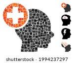 mosaic head treatment icon... | Shutterstock .eps vector #1994237297