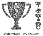 mosaic medical award cup icon... | Shutterstock .eps vector #1994237324