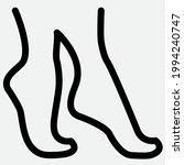 tip toe feet outline icon... | Shutterstock .eps vector #1994240747