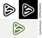 s letter media play button logo | Shutterstock .eps vector #1994243441