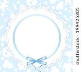 wedding invitation or greeting... | Shutterstock .eps vector #199425305