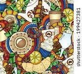 coffee doodles sketch. coffee... | Shutterstock .eps vector #199427381