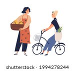 vendor with fruit and vegetable ... | Shutterstock .eps vector #1994278244