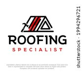 roofing company vector logo... | Shutterstock .eps vector #1994296721
