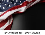 closeup of american flag on... | Shutterstock . vector #199430285