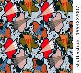 abstract cute modern seamles...   Shutterstock .eps vector #1994332007