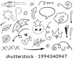 hand drawn set elements... | Shutterstock .eps vector #1994340947