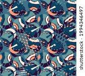 seamless cute pattern with...   Shutterstock .eps vector #1994346497