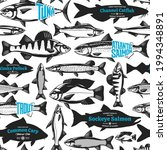 vector fish seamless pattern or ...   Shutterstock .eps vector #1994348891