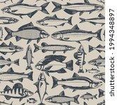 vector fish retro styled...   Shutterstock .eps vector #1994348897