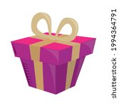 gift box with bow celebration | Shutterstock .eps vector #1994364791