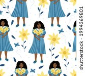 seamless pattern with beautiful ... | Shutterstock .eps vector #1994369801