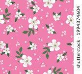 seamless vintage pattern. pink... | Shutterstock .eps vector #1994374604