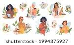 beauty girls take care of skin...   Shutterstock . vector #1994375927