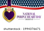 national purple heart day is... | Shutterstock .eps vector #1994376671