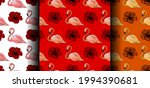 set of seamless patterns with... | Shutterstock .eps vector #1994390681